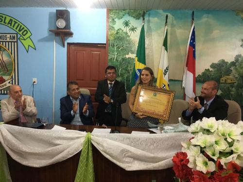 Juíza Elza Vitória de Mello agora é Cidadã Boa Vista do Ramos