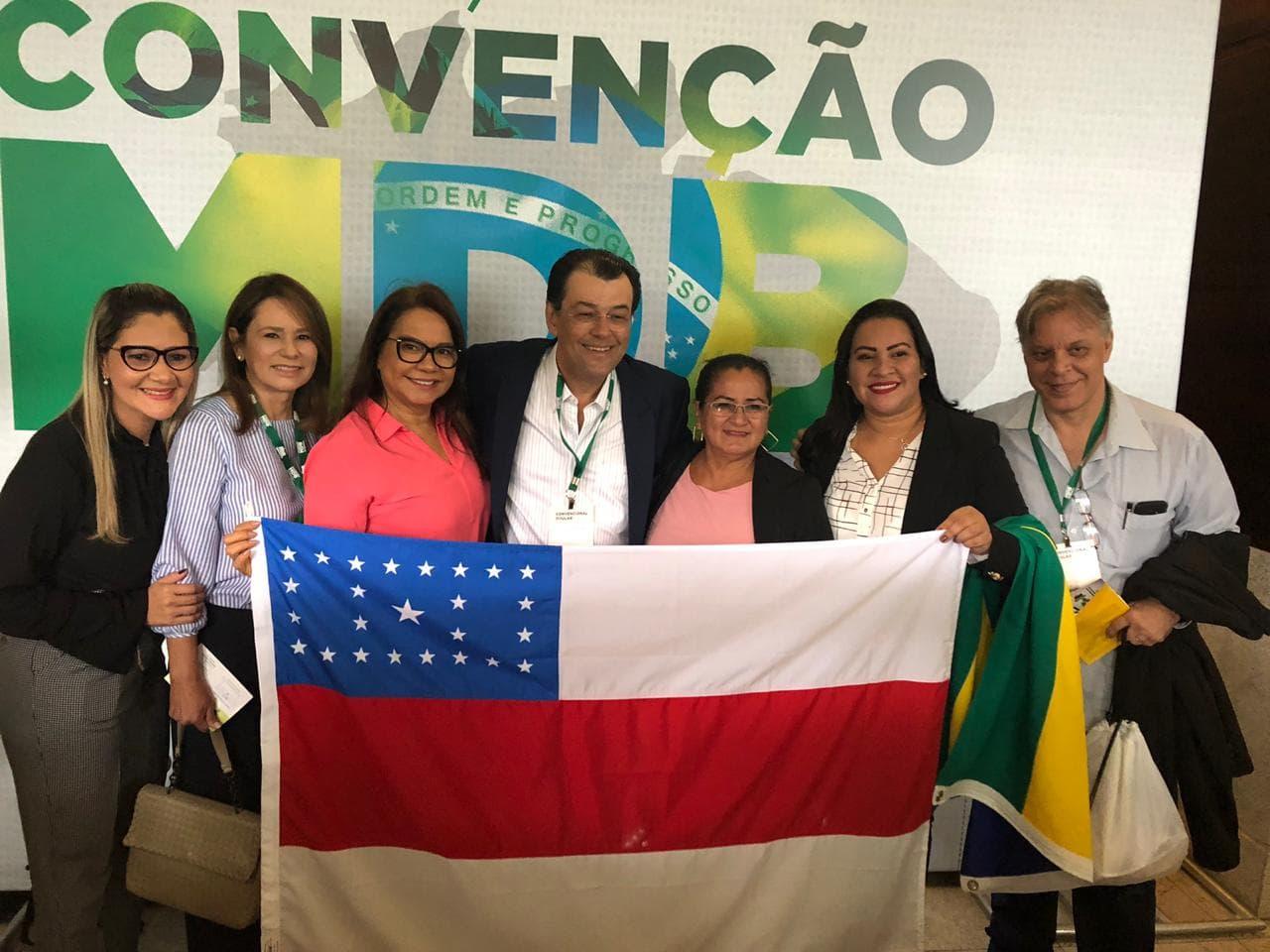 Márcia Baranda na Convenção Nacional do MDB 2