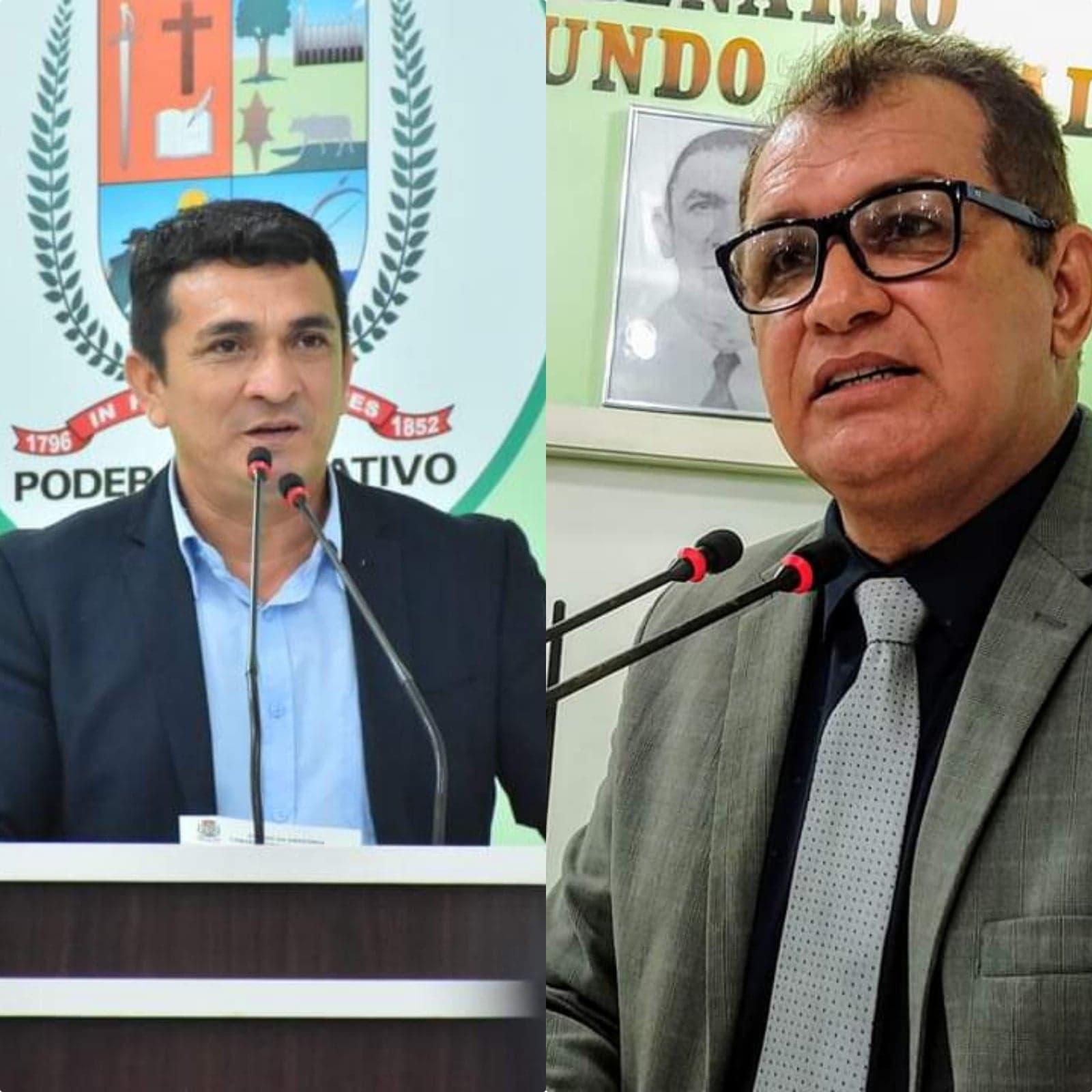 Vereadores Beto Farias e Tião Teixeira