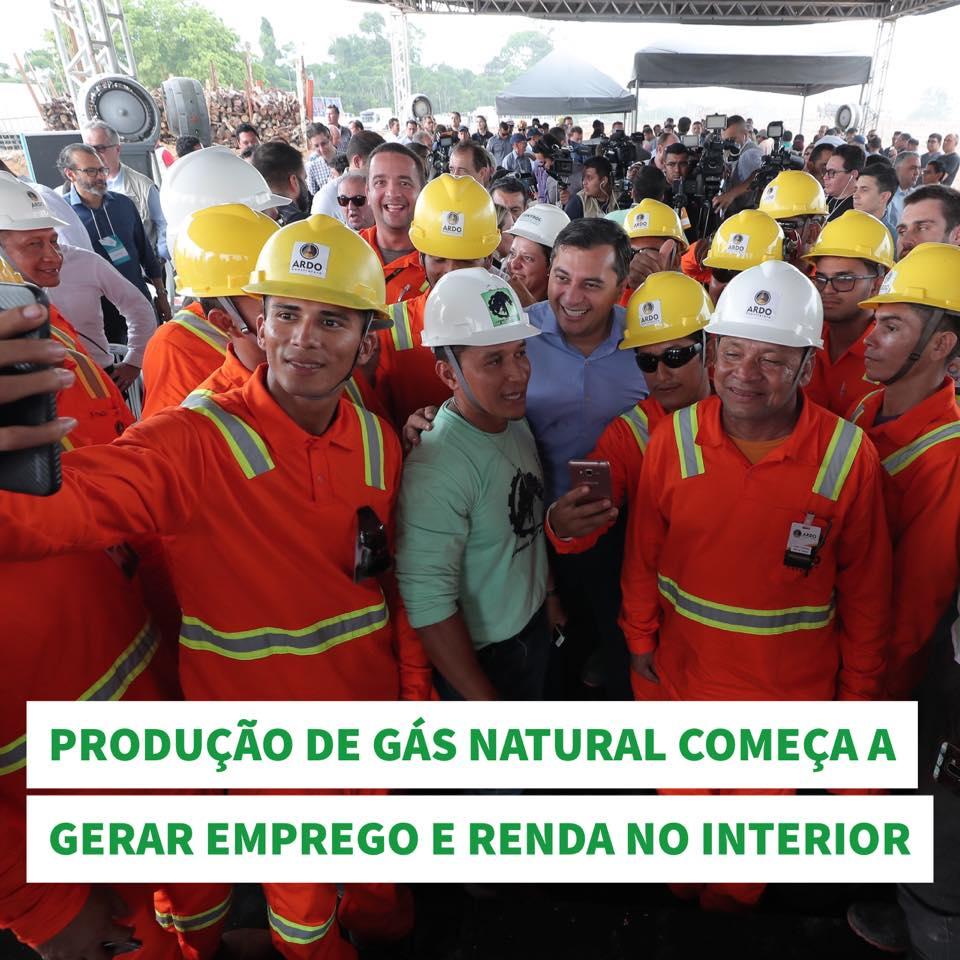 Wilson Lima diz que maior produção de gás natural abrirá novo ciclo de desenvolvimento no AM 1
