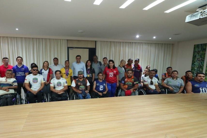 Wilson Lima recebe paratletas medalhistas no Parapan-Americano de 2019 2