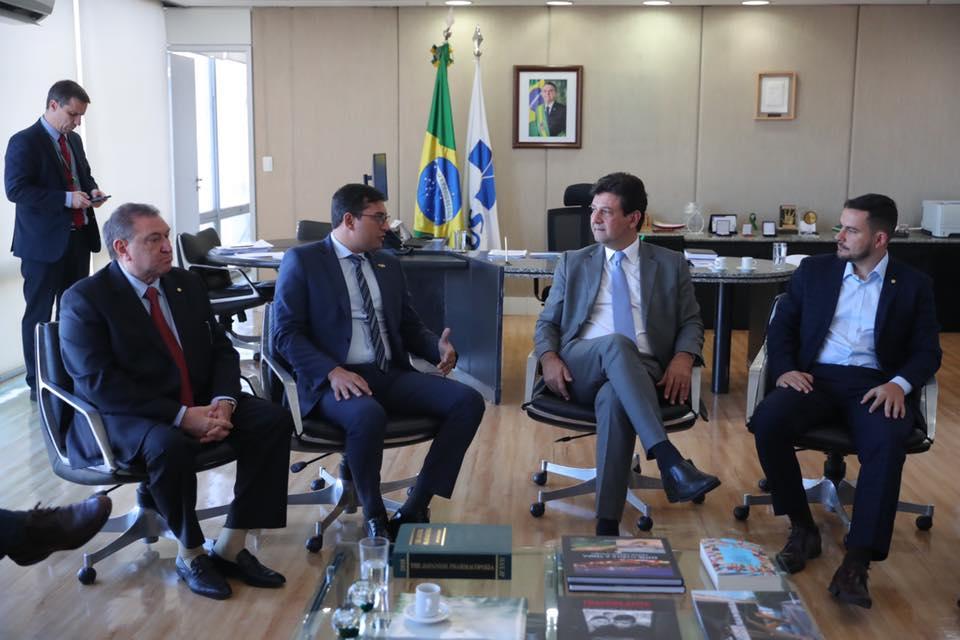 ministro da Saúde garante a Wilson Lima apoio para ampliar investimentos no Amazonas 2